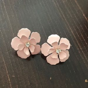 Blush Pink Floral Earrings